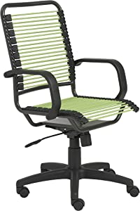 Eurø Style Bradley Bungie office chair, L: 27 W: 23 H: 37.5-43 SH: 17.5-23, Green