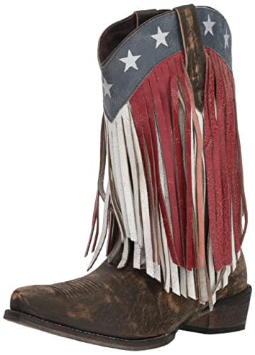 dd5641b7e73 Amazon.com | ROPER Women's American Beauty Fringe Western Boot | Mid ...