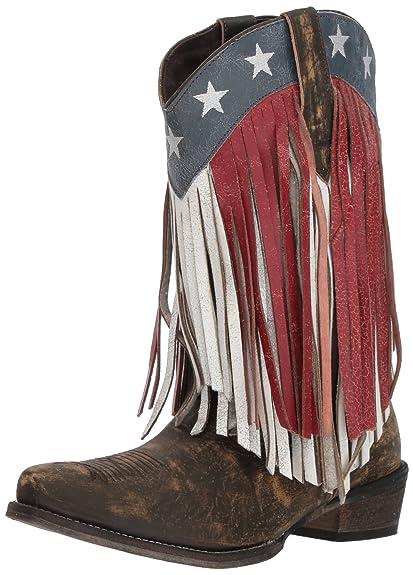 e34f18d6522 ROPER Women's American Beauty Fringe Western Boot