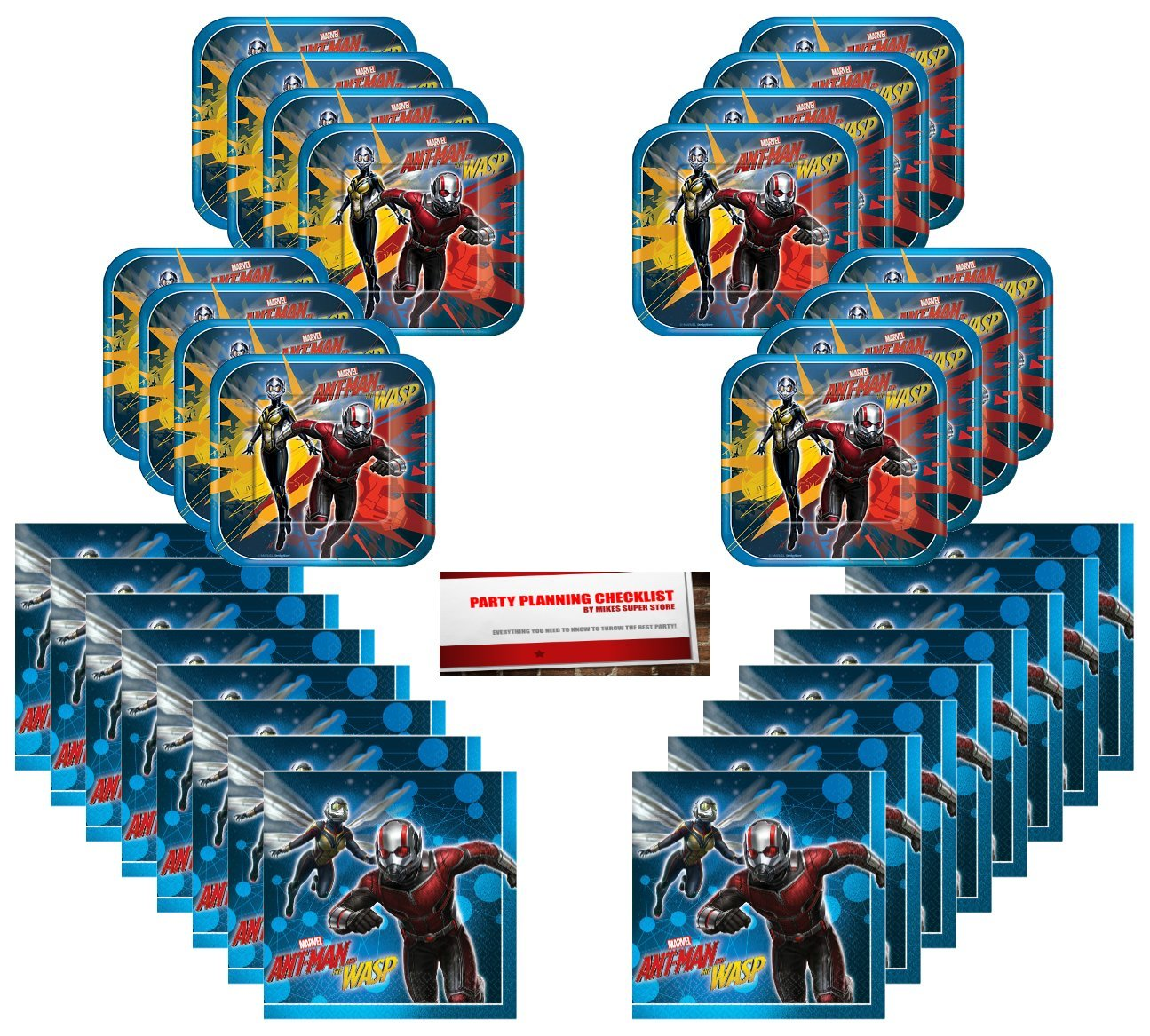 Ant-Man and The Wasp Birthday Party Supplies Bundle Pack for 16 (Plus Party Planning Checklist by Mikes Super Store) by Ant-Man & the Wasp