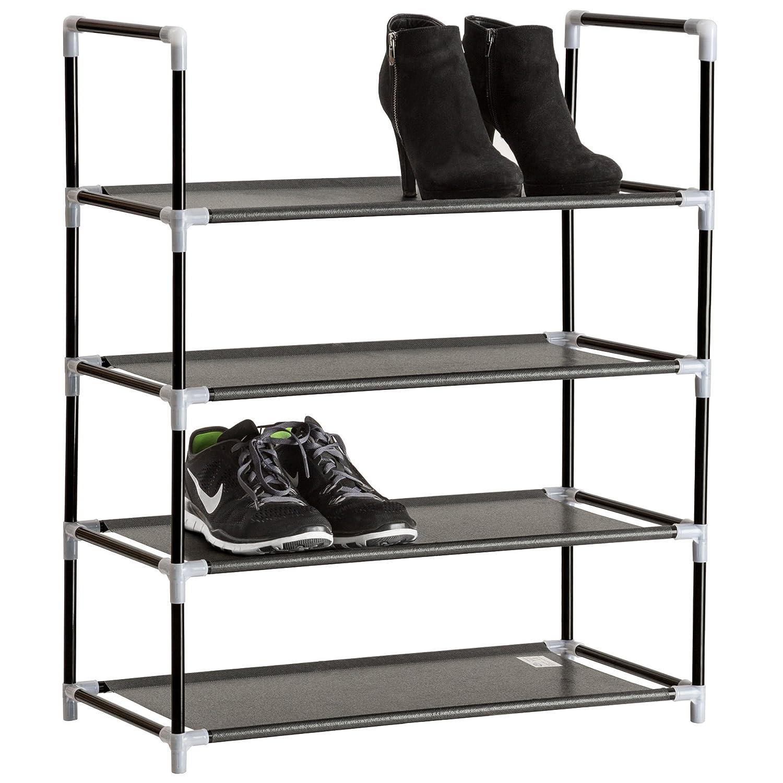TecTake Scaffale scarpiera a ripiani portascarpe porta scarpe armadio mobile - disponibili in diverse misure - (4 ripiani | no. 402104)