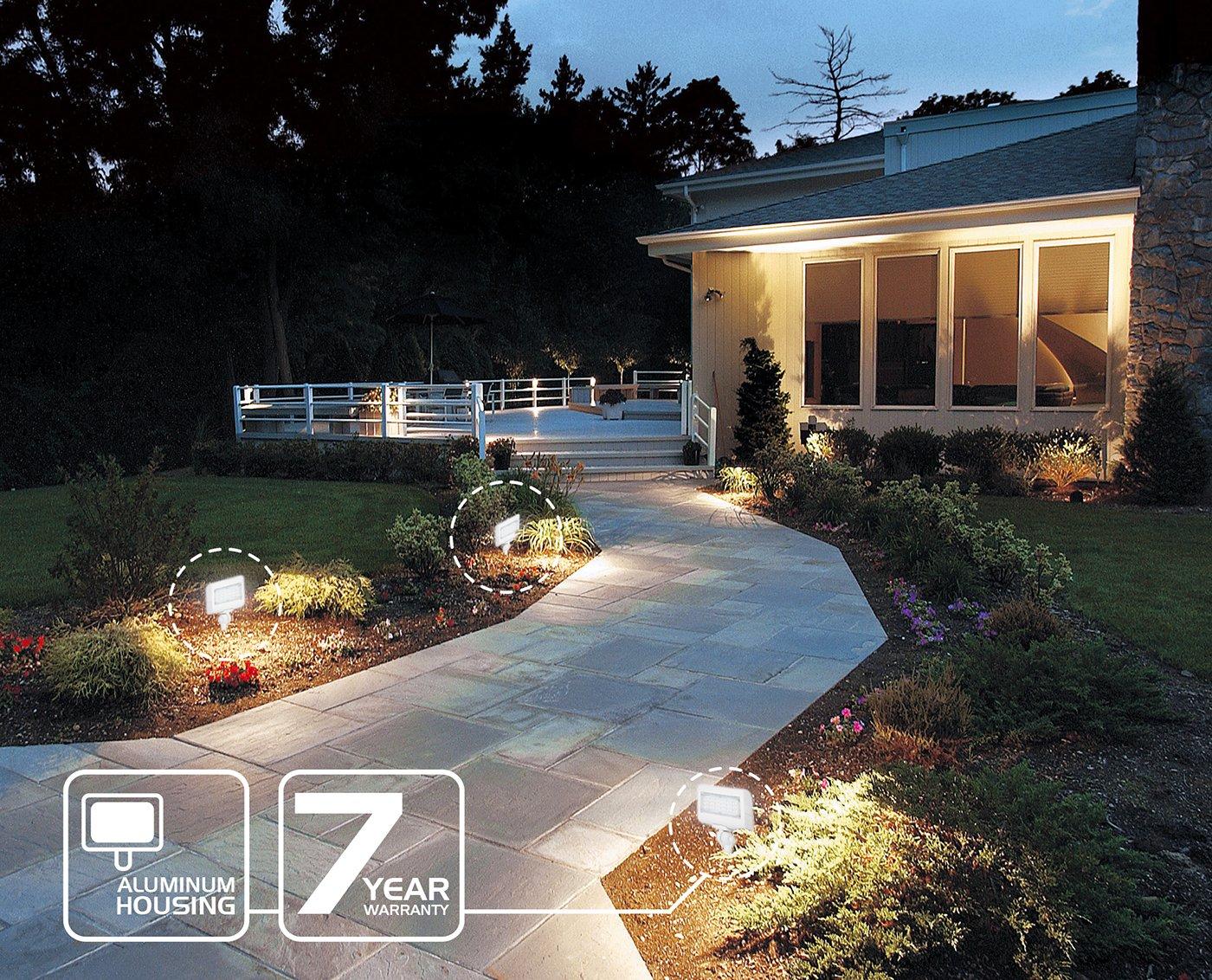 Garden Westgate MFG Yard Best Security Landscape Lights Fixture for Outdoor UL Listed 7 Year Warranty Westgate Lighting LED Flood Light with Knuckle Mount Safety Floodlights 30W, 5000K Cool White