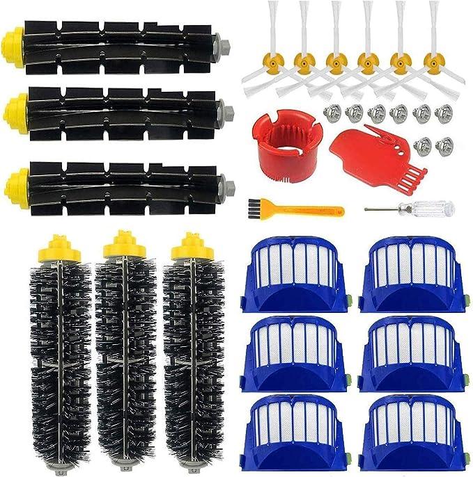 Supon robot accesorio cepillos de repuesto para robot serie 600 accesorios de repuesto, filtros, cepillo de cerdas para aspirador (600-00701): Amazon.es: Hogar