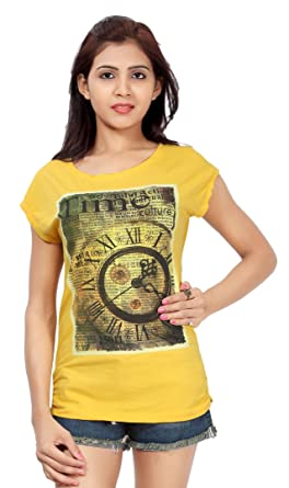 9c2a9b95c672a2 Image Unavailable. Image not available for. Color  Comix Women s Cotton Hosiery  Fabric Printed Top ...