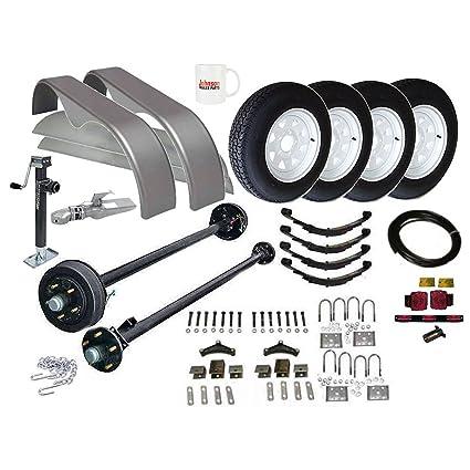 Amazon.com: Lowboy Trailer Parts Kit - 7,000 lb - Tandem Axle ...