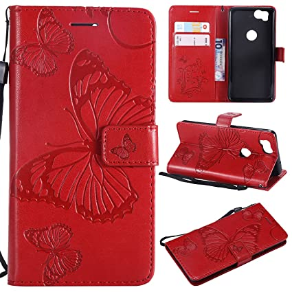 innovative design e5565 128c5 NOMO Google Pixel 2 Case,Pixel 2 Wallet Case,Pixel 2 Case with Card  Holders,Folio Flip PU Leather Butterfly Case Cover with Credit Card Slots  ...