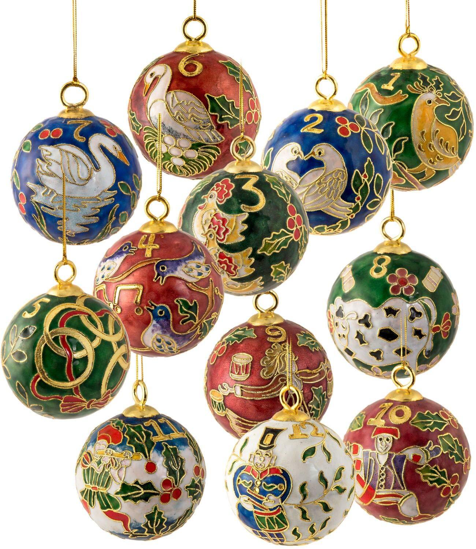 Twelve Days Of Christmas Ornaments.Amazon Com Value Arts Christmas Ornaments Handmade