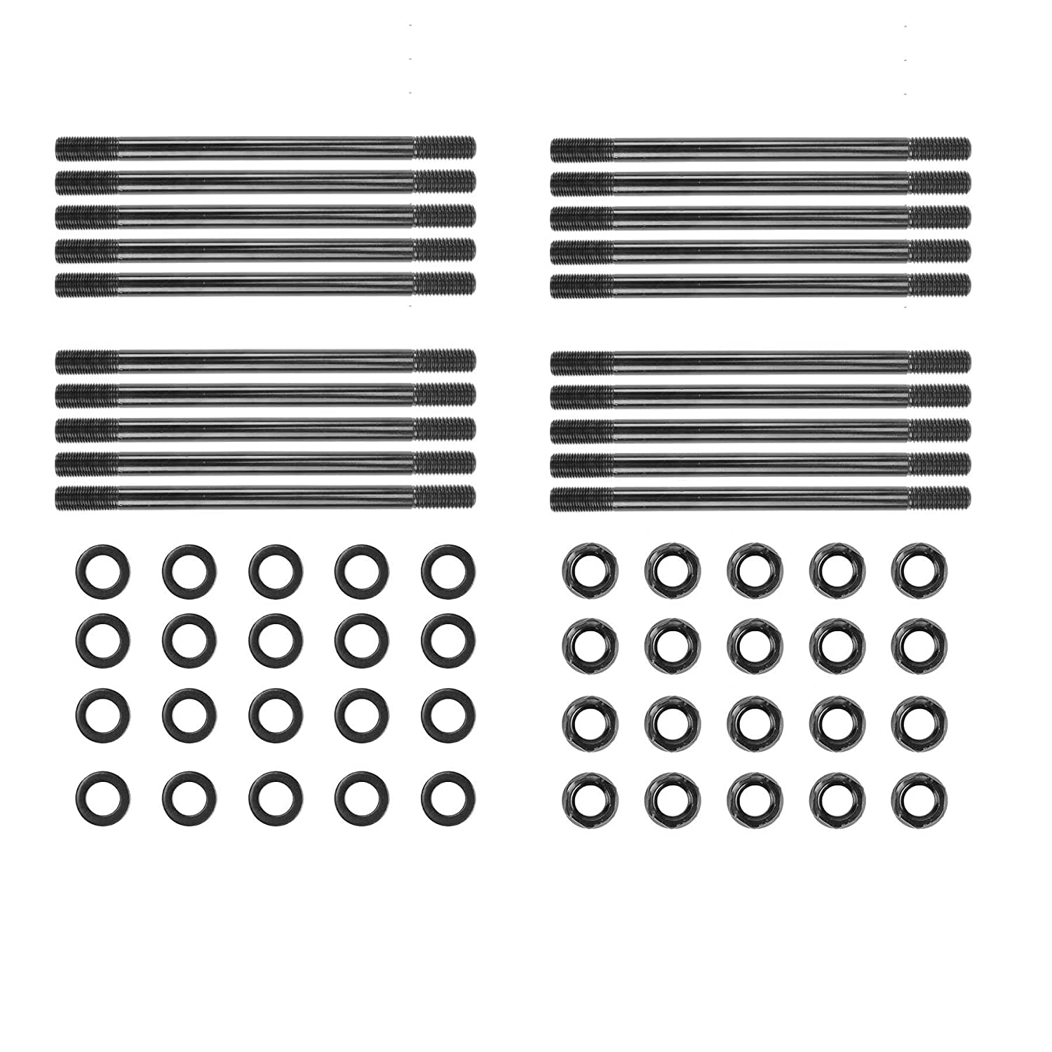 Orion Motor Tech 20 PCS High Strength Cylinder Head Stud Kit for 2003-2007 Ford 6.0L Diesel Powerstroke Engine, Replaces # 250-4202