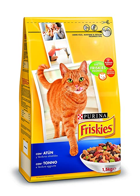 Purina Friskies Pienso para Gato Adulto Atún y Verduras 1,5 ...