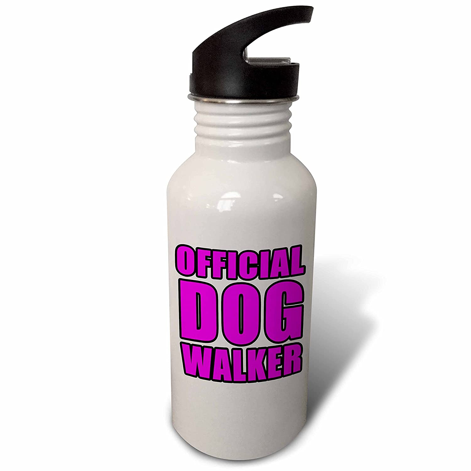 wb/_223793/_2 Flip Straw 21oz Water Bottle Official Dog Walker Pink 3dRose EvaDane Quotes