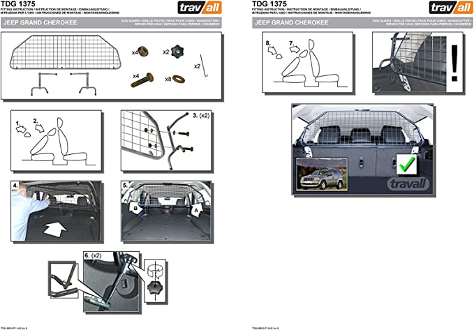 Travall Guard Hundegitter Tdg1375 Maßgeschneidertes Trenngitter In Original Qualität Auto