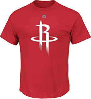 Mens Logo II Short Sleeve Crew Neck Tee - Houston Rockets