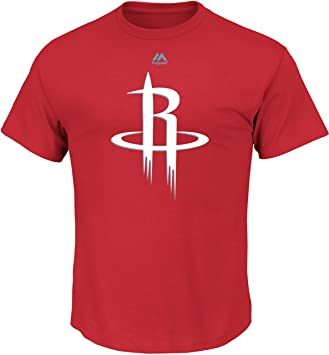 "Majestic Houston Rockets NBA ""Supreme Logo Men s Short Sleeve Camiseta Camisa"