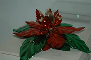 Dept. 56 #4350-8 Poinsettia Taper Candle Holder