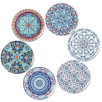 BOHORIA® Premium Design Posavasos (Set de 6) - Posavasos Decorativos para Vidrio, Copas, floreros, Velas en su Mesa de Comedor en Madera, Vidrio o ...