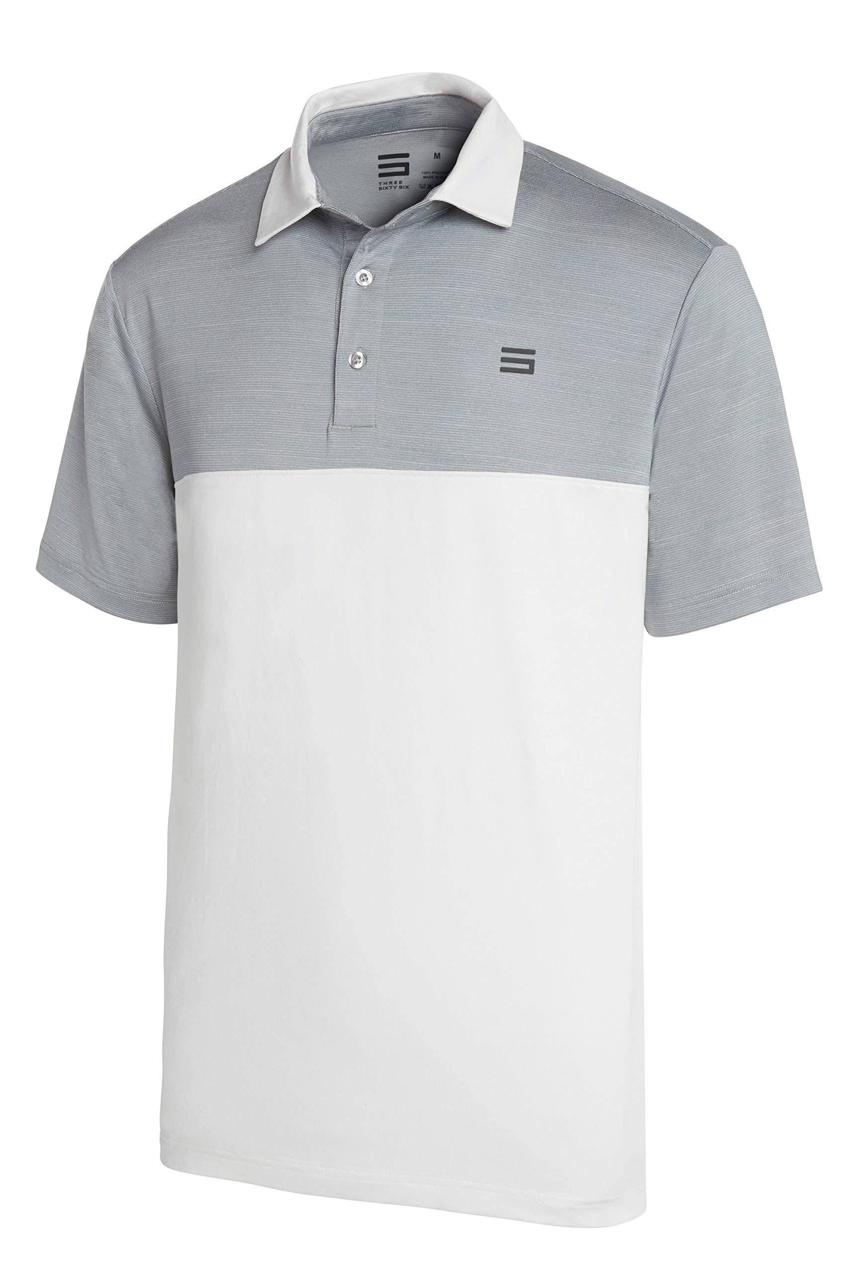 Three Sixty Six Dri-Fit Golf Shirts for Men - Moisture Wicking Short-Sleeve Polo Shirt by Three Sixty Six