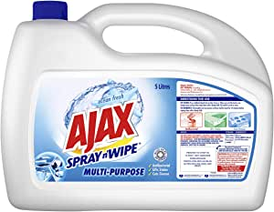 Ajax Spray n' Wipe MultiPurpose Antibacterial Disinfectant Household Cleaner Ocean Fresh Refill Value Pack Made in Australia 5L