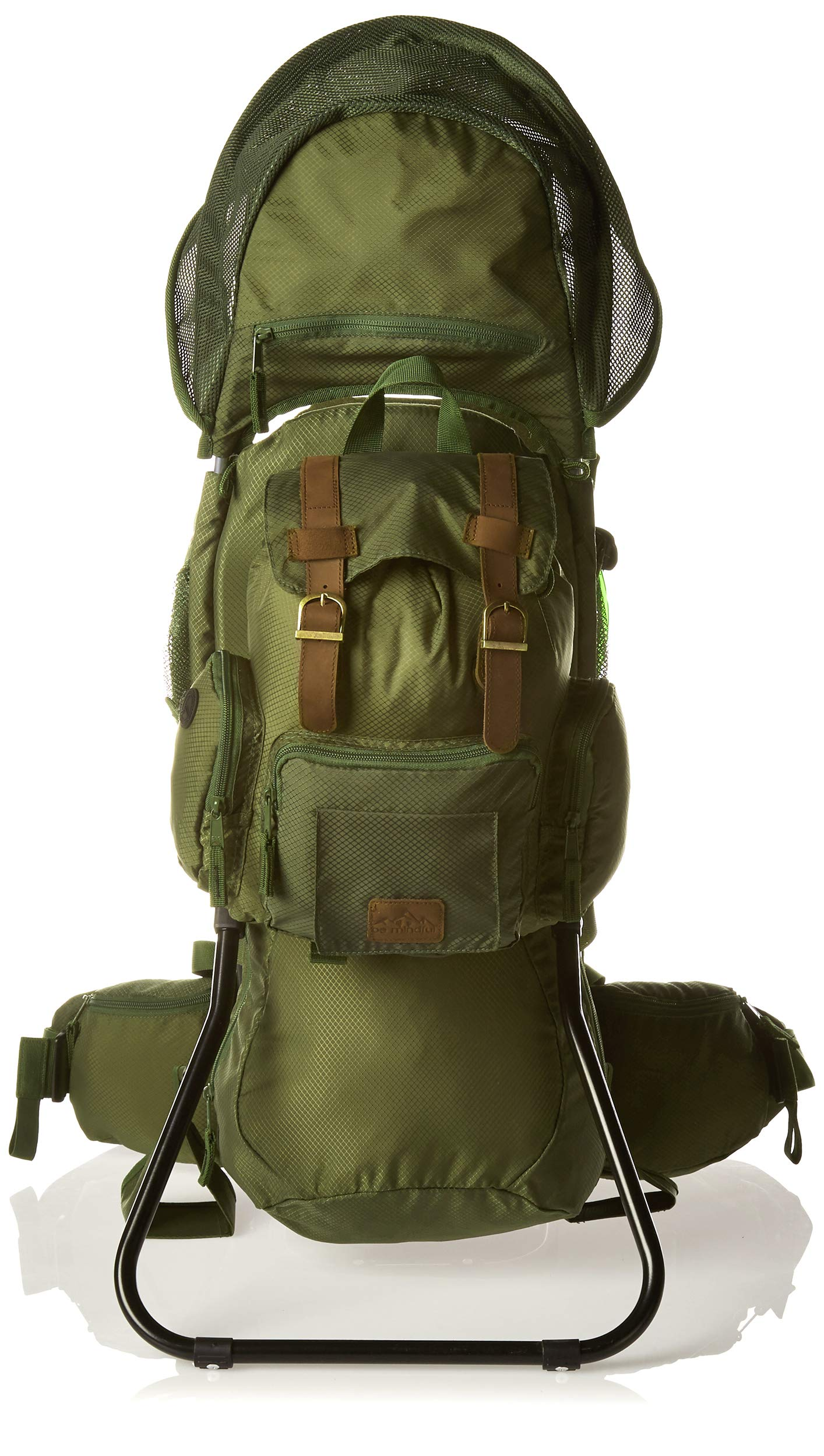 Be Mindful Retro Scout Baby Carrier Backpack in Jungle Green