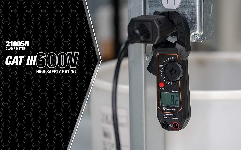Southwire Clamp Meter Electrical Tester Kit Black Model:20025K