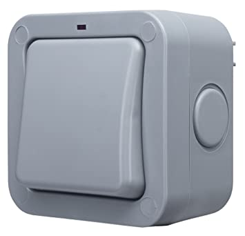 Masterplug WP12 Lichtschalter für den Außenbereich, witterungsfest ...