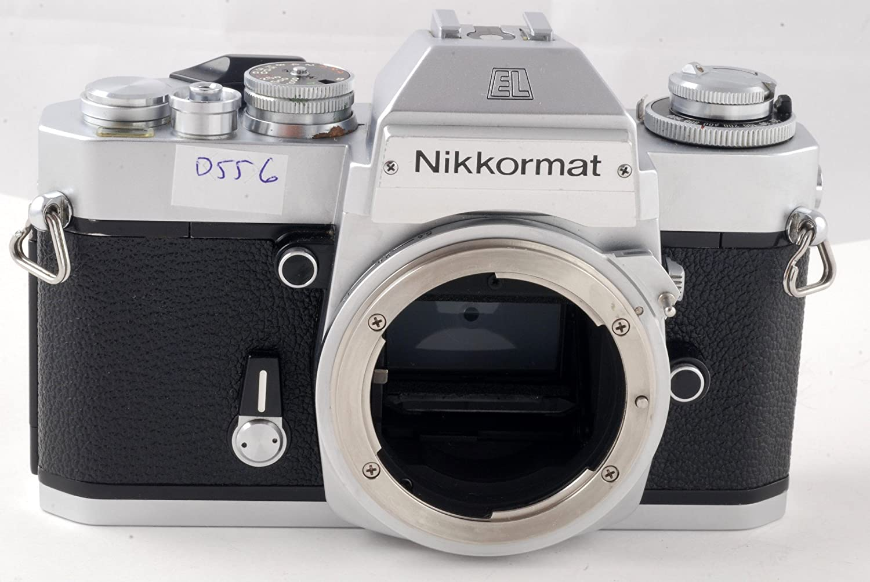 Chrome Nikon Nikkormat EL SLR film camera; body only, no lens
