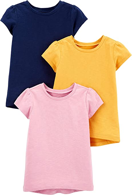Simple Joys by Carters Baby-M/ädchen 6-Pack Short-Sleeve Bodysuit