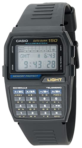 Casio Men's DBC150-1 Databank Digital Calculator Watch