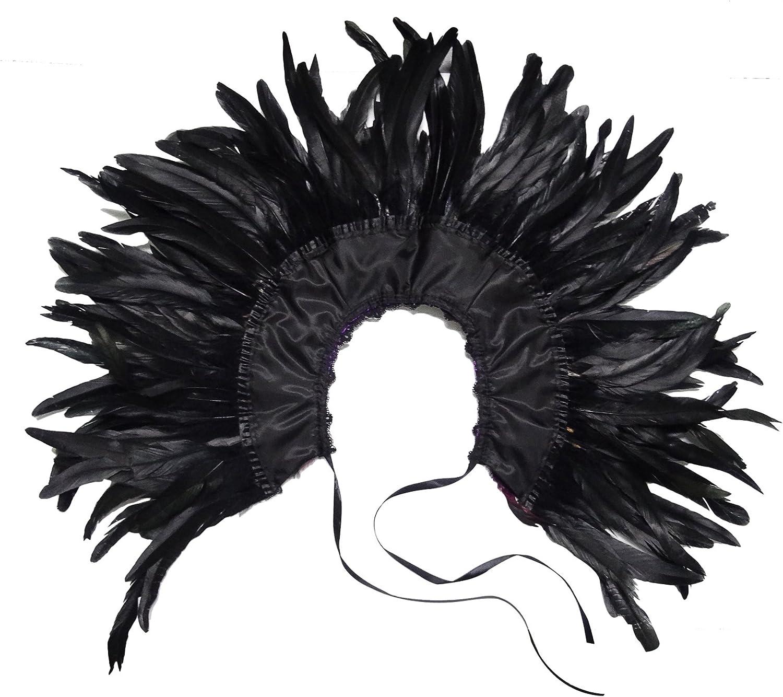 KELAND Femmes Ch/âle /Étole En Plumes Collier Cape Poncho v/êtement Danse Halloween