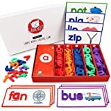 GAMENOTE See and Spell Learning Toy - Matching Letter Game CVC Word Builders Kindergarten Preschool Learning Toys (Include 50