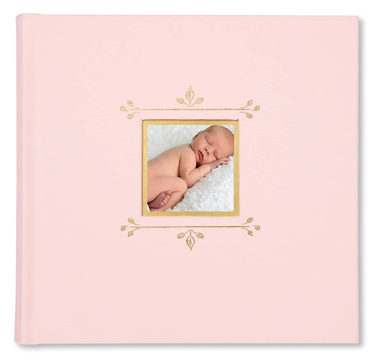 C.R. Gibson Pink Cloth Slim Bound Photo Journal Album for Baby and Newborn Girls, 9' W x 8.875' H, 80 Pages 9 W x 8.875 H C.R. Gibson - Baby BP1-18487