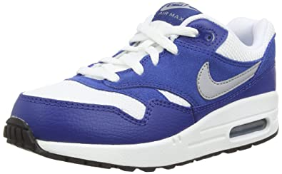 Nike Air Max 1 PS Couleur: Blanc Bleu Pointure: 29.5