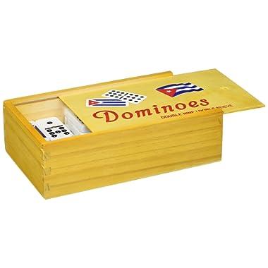 Bene Casa Cuban Flag Double Nines Dominoes Set Wood Box