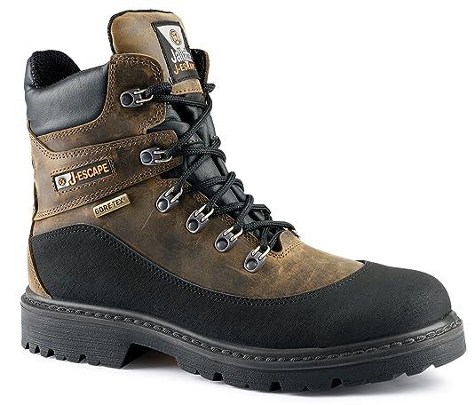 JALLATTE Jalacer S3 marrón Piel Gore-Tex Vibram Seguridad Puntera Entresuela Mens Botas: Amazon.es: Zapatos y complementos