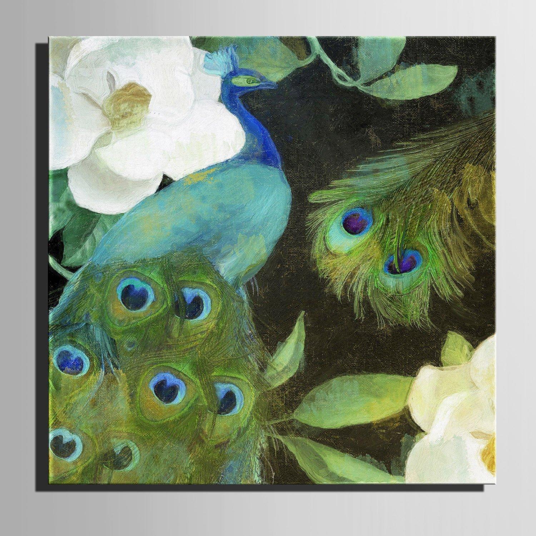 T&Q T&Qing Leinwand-Kunst Gr¨¹ne Pfau-Dekoration-Malerei, rahmenlose Malerei, 40  40  1 B07KN3DRM2  | Günstige Bestellung