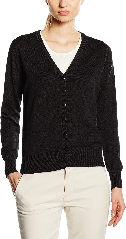 TALLA 44. Premier Workwear Ladies Button Through Knitted Cardigan Chaqueta para Mujer