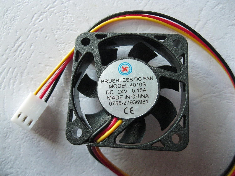 1 Pcs DC Fan 24V 4010 3 Pin 40x40x10mm Brushless DC Cooling Blade Fan
