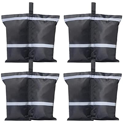 ABCCANOPY Industrial Grade Weights Bag Leg Weights for Pop up Canopy Tent, Glow-in-The-Dark Sand Bags 4pcs-Pack (Reflective Strip) : Garden & Outdoor
