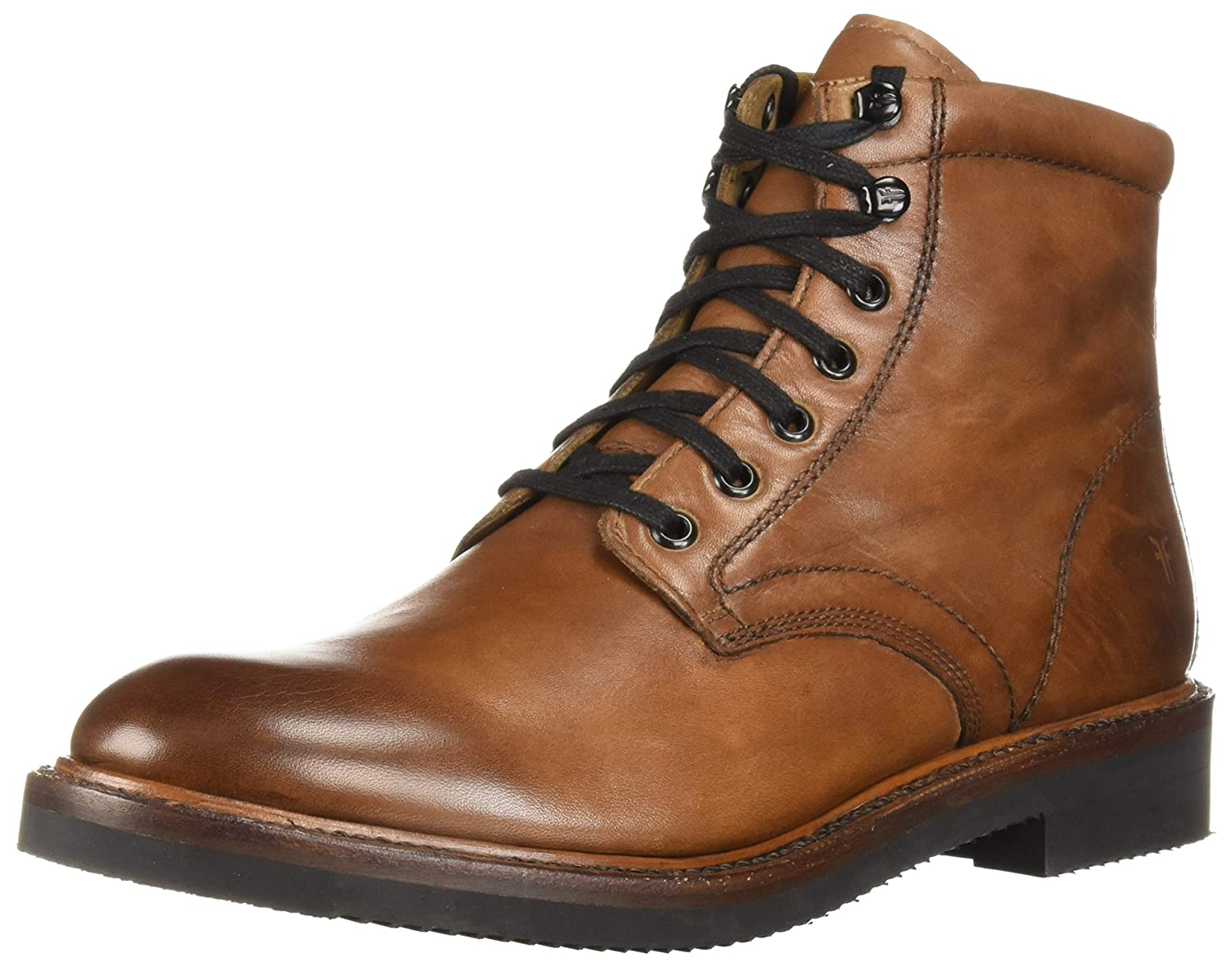 Cognac Frye Mens Gordon Lace Up Combat Boot