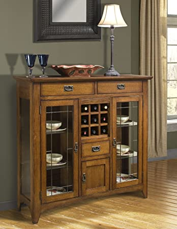 Intercon Furniture Mission Leopold 54 Server W/ Glass Doors In Burnished  Mission MD CA