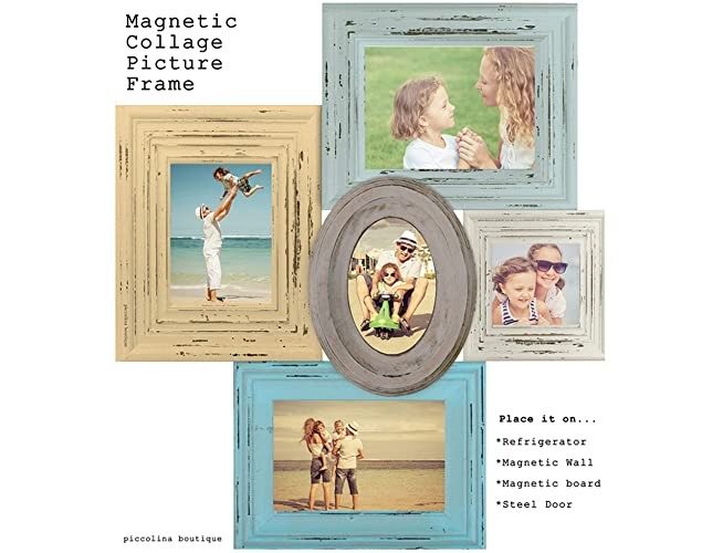 Amazoncom Magnetic Collage Picture Frame Blue Yellow Picture