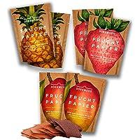Frutas secas en seis paquetes de papeles