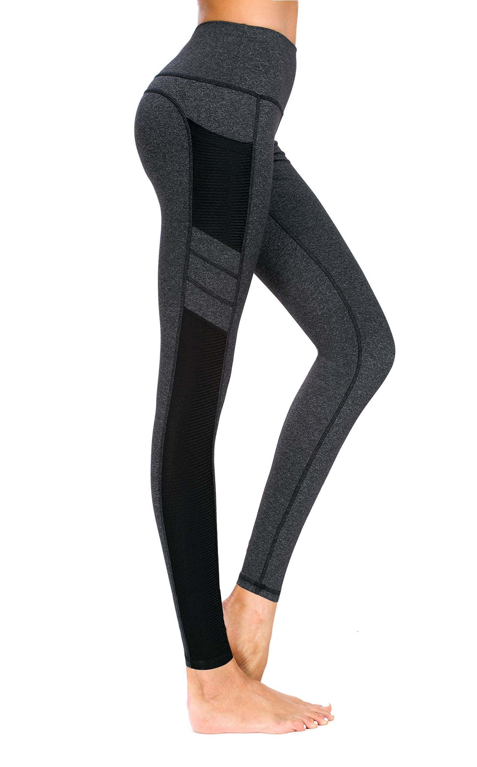 3e87b707cf New Mincc Leggings de Sport pour Femme Pantalon Yoga Fitness Minceur Long  avec Poches Basique élastique
