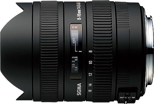 Sigma 8-16mm f/4.5-5.6 DC HSM FLD AF Ultra-Wide Zoom Lens for APS-C Canon Digital DSLR Cameras