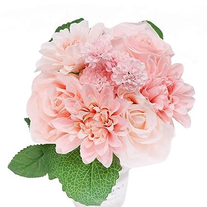 Amazon Artificial Flowers And Plants Bridal Bouquet Silk Silk