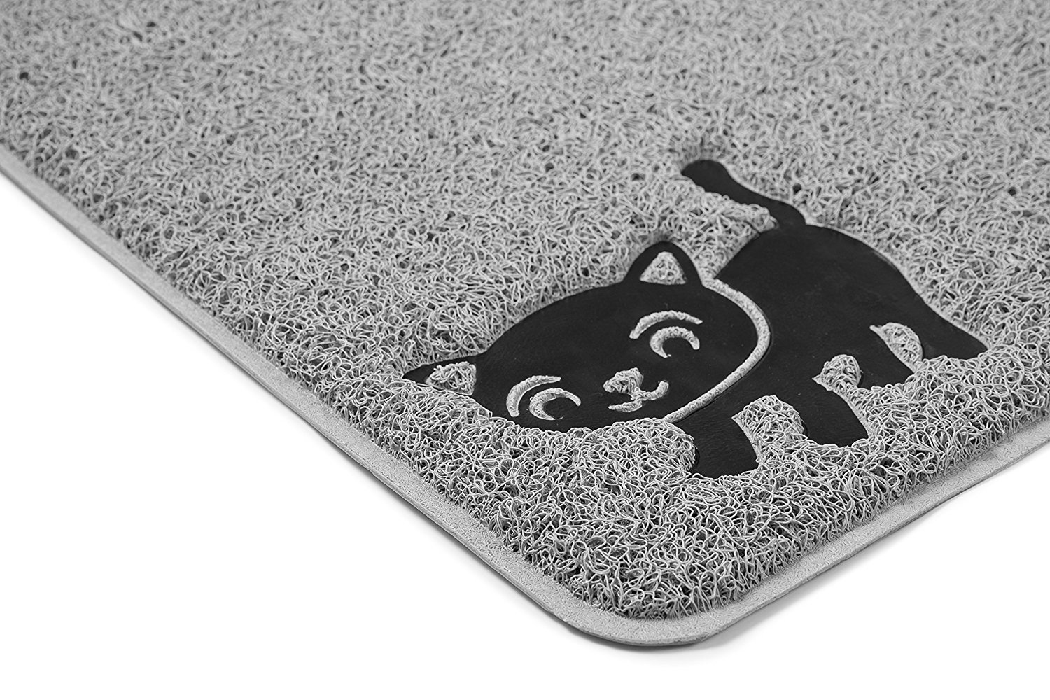 """Cat Litter Mat By Smiling Paws Pets, BPA Free, XL Size 35x23.5"""", Non-Slip - Tear & Scratch Proof, Easy to Clean Kitty Litter Catcher with Scatter Control (Extra Large Gray) XL Size 35x23.5"""""""