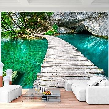 Fototapete Brücke Wasser 352 x 250 cm Vlies Wand Tapete Wohnzimmer ...