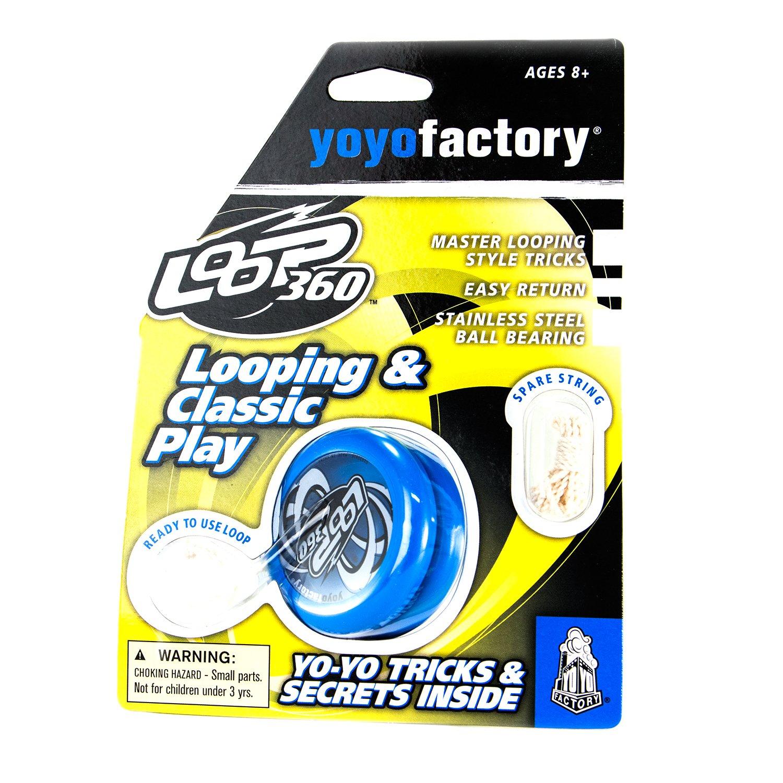 Genial para Principiantes, Juego Yoyo Moderno, Rodamiento de Bolas de Metal, Cuerda e Instrucciones Incluidas Blanco YoyoFactory Loop 360 Yo-Yo