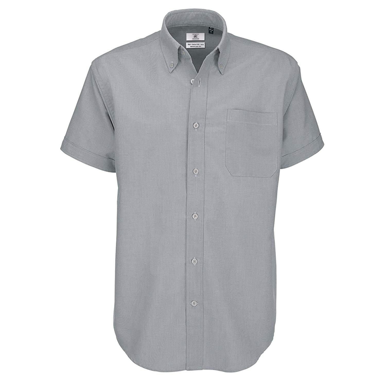 B & C - kurzarm Oxford Hemd Button-Down