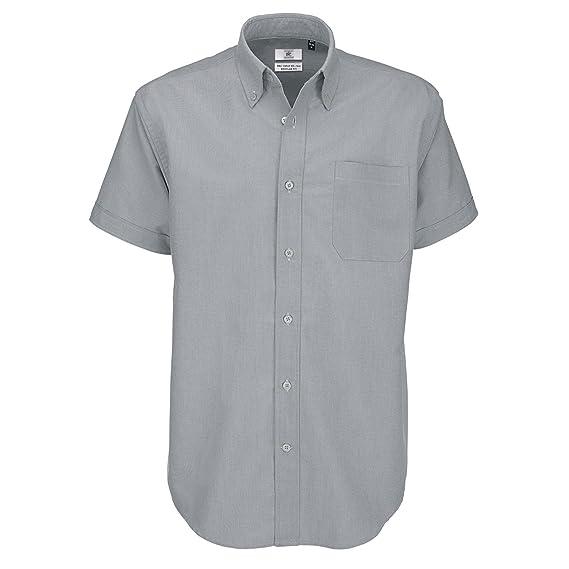 cb0560997b70 B&C Men's Oxford Short Sleeve Shirt Casual: Amazon.co.uk: Clothing
