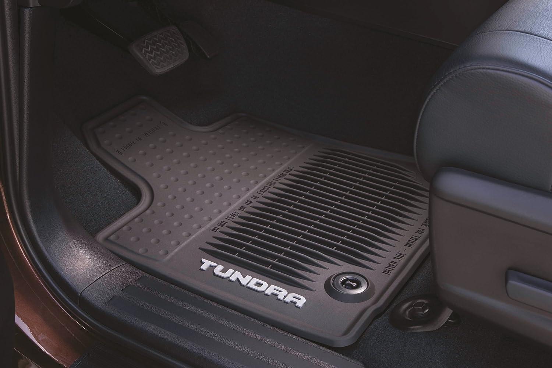 Rubber floor mats toyota tundra - Amazon Com Genuine Toyota All Weather Floor Mats For The 2014 Toyota Tundra Crew Max New Oem Automotive